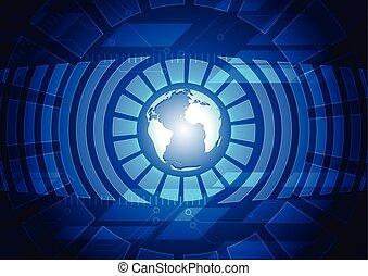 Dunkle blaue Technologie Hintergrund