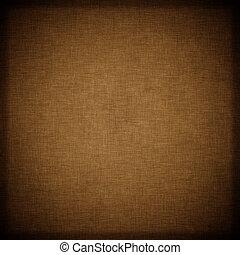 Dunkler, brauner Textil Hintergrund
