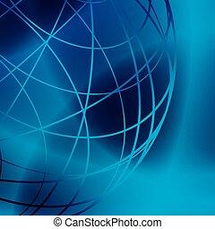 Dunkler und hell glänzender Hintergrund mit blauen Linien - Vektor.