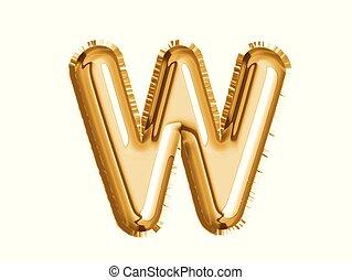 dusche, gold, alphabet, balloon, luft, dekoration, x, baby, party, feiern