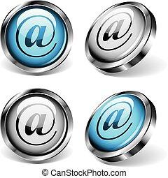 E-Mail-Web-Knöpfe