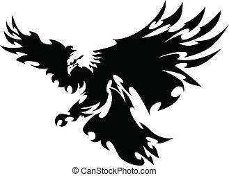 Eagle-Maskottchen mit Flügeln