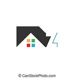 echte , logo, vektor, ikone, brief, haus, z, gut