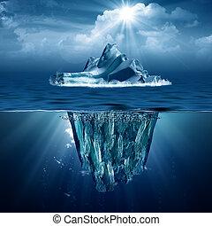 eco, abstrakt, hintergruende, iceberg., design, dein