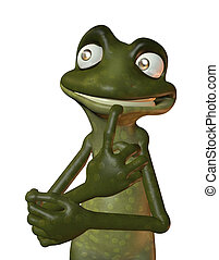 Eco Frog denkt nach