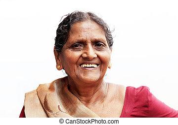 Editorial: eine eng asiatisch ältere Frau