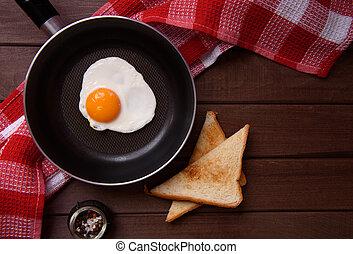 Eier auf einer Pfanne