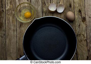 eier, gebraten, vorbereiten
