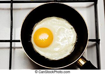 Eier in einer Pfanne.
