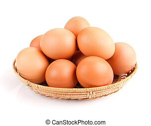 Eier in einer Schüssel.
