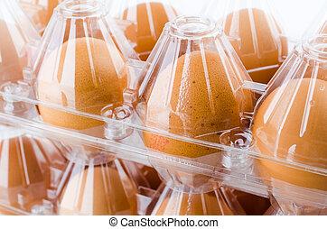 Eier mit isoliertem weißen Hintergrund.