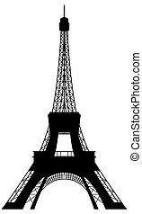 Eiffelturmsilhouette