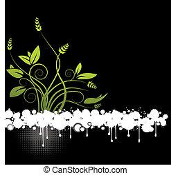 Ein abstrakter Blumenvektor