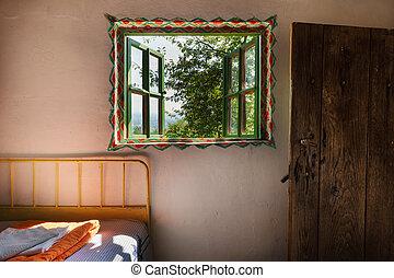 Ein altes Holzhaus