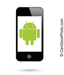 Ein Androide-Operationg-System für Smartphones