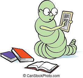 Ein Bücherwurm
