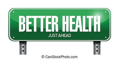 Ein besseres Gesundheits-Road-Illustrationsmuster