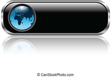Ein Blank-Web-Knopf