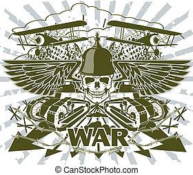 Ein Emblem des Weltkriegs