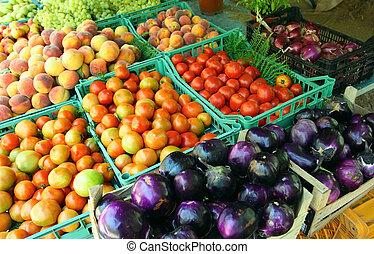 Ein erzieherischer mediterraner Markt