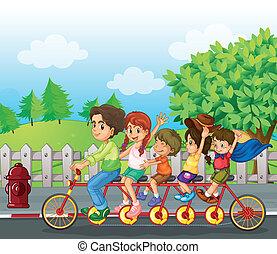 Ein Familienrad