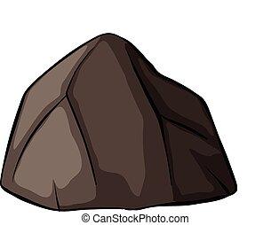 Ein grauer Stein.
