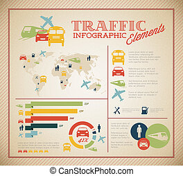 Ein großer Verkehrsvektor, infografische Elemente