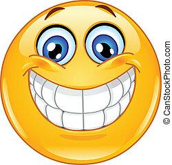 Ein großes Lächeln-Emoticon