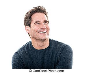 Ein gut aussehender Mann, der lacht
