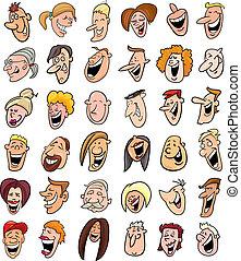 Ein Haufen lachender Menschen