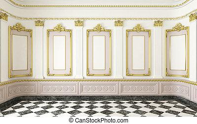 Ein klassischer Stilraum mit goldenen Details