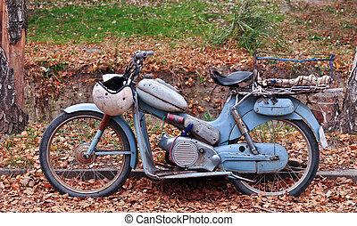 Ein klassisches Motorrad