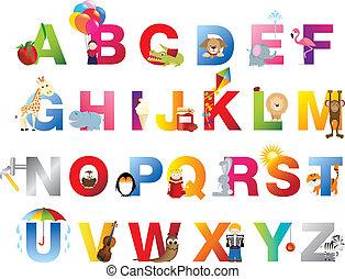 Ein komplettes Kinder Alphabet