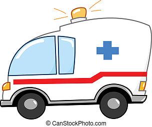 Ein Krankenwagen Cartoon