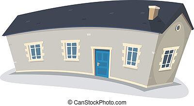 Ein langes Haus