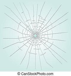 Ein Loch in Glas