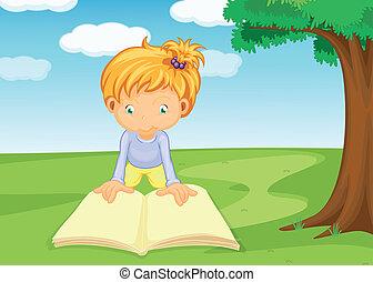Ein Mädchen, das Buch liest