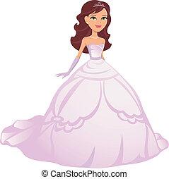 Ein Mädchen, das Prinzessinnenkleid trägt