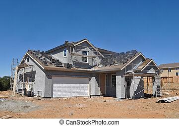 Ein neues Wohnheim im Bau