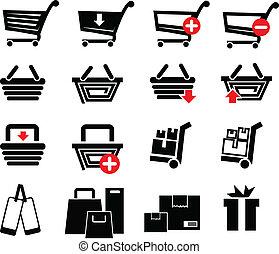 Ein paar Einkaufs-Icons.