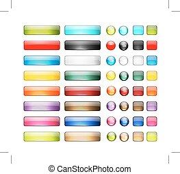 Ein paar glossy-Knopf-Ikonen für dein Design