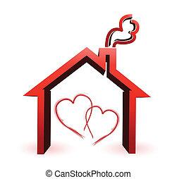 Ein paar liebevolle Haus-Illustrationen