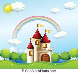 Ein Schloss unter dem Regenbogen