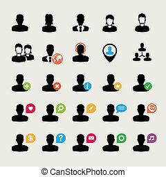 Ein Set von User-Ikonen