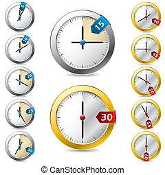 Ein Set von Vektor-Timerdesign