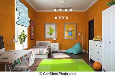Ein Teil des modernen Kinderzimmers.