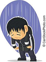 Ein trauriger Junge
