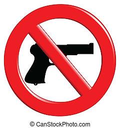 Ein Zeichen verbotener Waffen