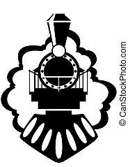 Eine alte Lokomotive