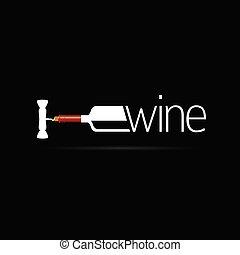 Eine Flasche Wein-Ikonen-Vektor-Silhouette.